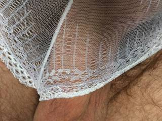 Dovegush like these sheer white lacy panties on me. Very virginal xx
