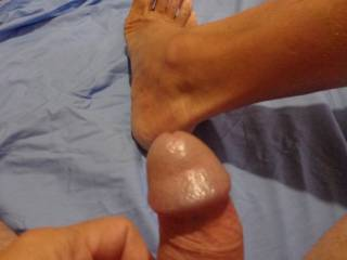 Playing, do you like my dick and foot?