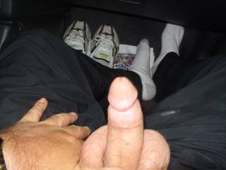 mmmmm...would love to suck that rock hard cock...get it all wet...then let you fill my throat full then...suck you clean!!! (miskitty)