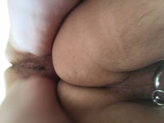 My pussy behind my lovers smoot hot ass, what do you think happens next ?