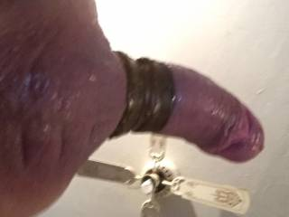 Getting ready for some wet pussy. Luv when I push my dick in pussy juice run down my balls.