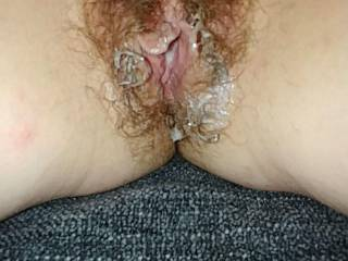 that's how I like my pussy, full of cum