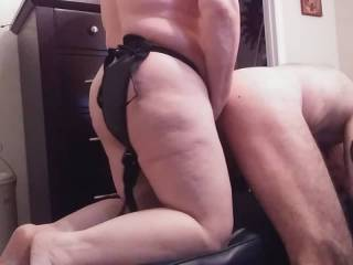 That ass of my husband needs my nice strap-on cock. And, his beautiful butt cheeks needs a good slapping. Have you ever fucked your husband in the ass? Take charge, and fuck him now! Besides, he will thank you.