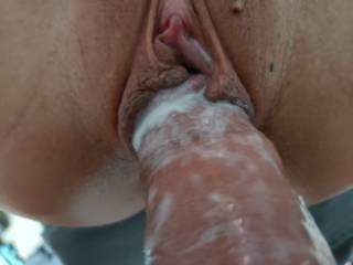 We never use lube wife\'s pussy cums soon as ber fat lips wrap around the head of my dick
