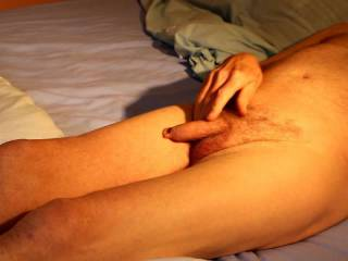 Once agai being naked leads to a little stroking fun.