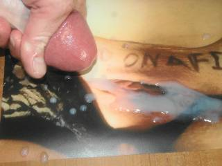 Draining every last drop of warm cum on D&J's tasty pussy tribute they made me.! I had to cover her tasty pussy with my sticky jizz!