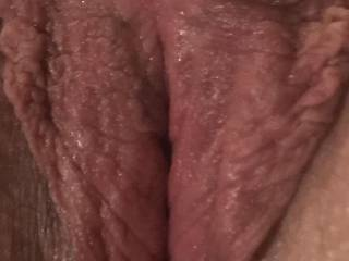 Wife's pussy right after she sat on my face. So so tasty. Who wants to have a lick?