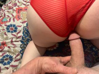 Just about to fuck my wifes hot ass