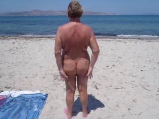 Ann on Kos nude beach