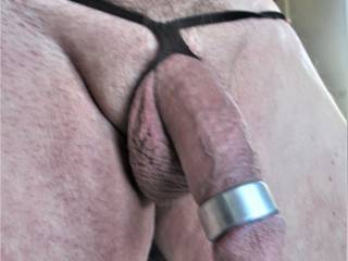 Thick penis ring and harness.