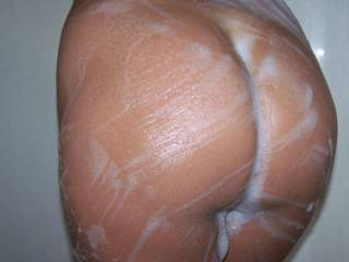 I saw her sweet ass all lathered up in the shower and thought you zoigers would enjoy a pic. So how do you like it?