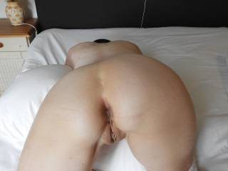 Wife (65y) showing her beautiful ass; what do you think about it? She is having a beautiful sphincter and pussy . I love to lick her pussy and anus before I put my dick in her ass.
