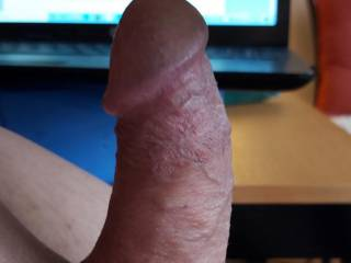 A tribute from JayMN1 - what a big hard cock aiming right at my big soft tits! Can\'t wait to see more from you!