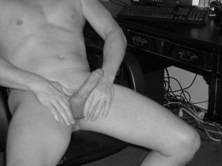 Working on some vids....here is a shot of my cock for now!  If you\'d like to see it work in person.....just ask!?