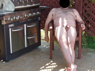 I took away hubby's clothes and made him pose in the nude outside by the pool!  The fun part was our female neighbor was in her backyard with her female friends and hubby was very nervous! Hehehe!!!