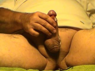 Cumshot from having vibrating dildo in my ass and stroking my cock. What do you think??