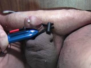 Under Table Orgasm with stim and vibe.