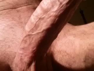 Wow - would love to spend this afternoon wrapping my mouth around that cock - yum - your balls must contain enough cum to fill a glass every time!   My kind of lunch x