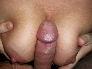 Would love to have mine in between to... All the way til I cream them with my warm cock juice....