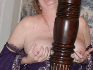 i wish that was my cock between her breasts ,,and to feel my cum shooting all over her breasts and nipples ,,would she let me