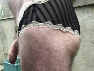 Wearing my wifes panties x Kimmi x