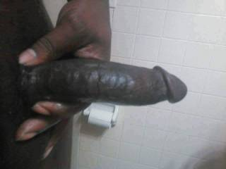 Big black dick out at work