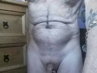 Full frontal showing my cock