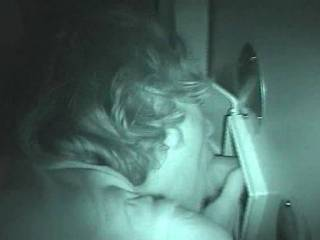 Slutwife Jen working some dicks at the local gloryhole