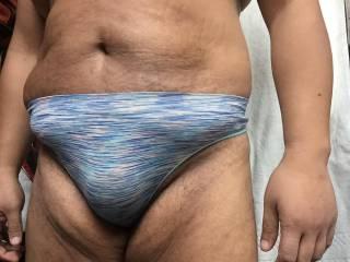Thong bulge closeup