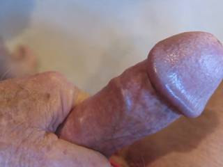 I love when Mr. F massages my clitoris with that thick corona.  Now if he only had a foreskin..... From Mrs. Floridaman
