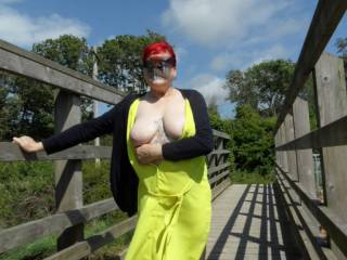 Hi all been away for quite some time both of us have been very ill over the past few months  So here we go again the weather is hot we go for a country walk and well you know cant resist a few picture dirty comments always wanted mature couple