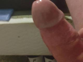 Stroking my cock watching Tightpussy90 fuck herself!!
