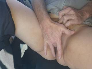 Open the wifes wet pussy for you