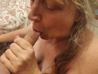 Just a shared wife sucking all the cum out of a cock. Take a look at my short video to see how much I enjoy cock in my mouth and swallowing a man\'s cum. Mmm...