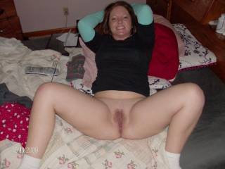 Looks ready... And I am ready.... I'd love to feel the swollen velvet head of my cock taste her tantalizing nectar deep in her pussy