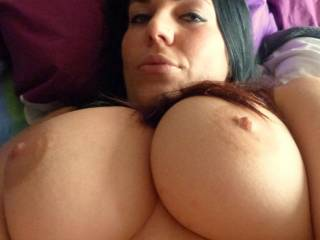 I Love your Full Breast and LARGE Areola's, I would enjoy Kissing, Licking and Sucking on them...  Love and Kisses, Maryann