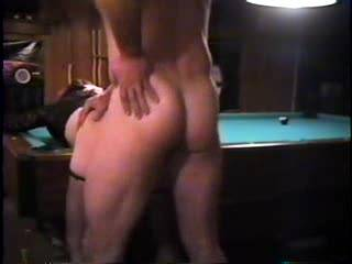 sucking me off after bending her over the pool table