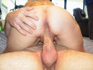 Id love to suck on your balls while you fuck her sweet pussy..Great PIC!!..