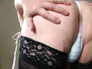 my bum in white panties