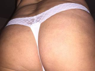 Today\'s panties...white lace today!!
