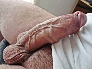 hi ladies, hope you like my cock with veins throbbing.