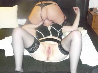 I`d love to slide my cock in your pussy and lick the other girls asshole at the same time