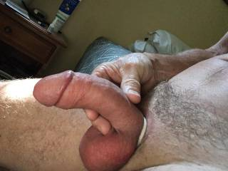 Soft yet thick cock. You like?