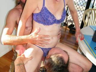 Mind Blowing Hot Erotic Fun!!  I'd luv to have her luscious tits in mouth at the same time...