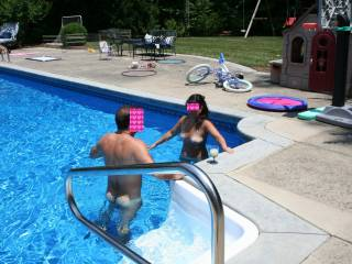 """Damn...we would've have loved to join that pool party.  It would have led to """"loads"""" of fun."""