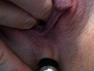 Fingering my pussy with a little anal teaser;)