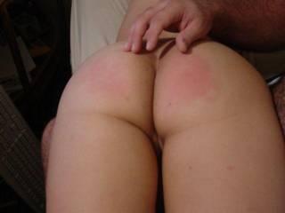 Bad girl got a spanking...