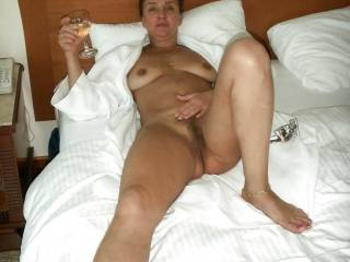 She looks like a real slut whore waiting for a few Big Cocks to fuck her! I would bring over all my friends to gangbang her and cum all over her face!