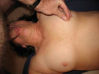My boyfriend loves to play with my nipples when getting sucked on!