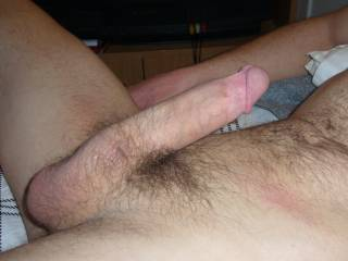 taken before the wife jumped on and rode this big cock